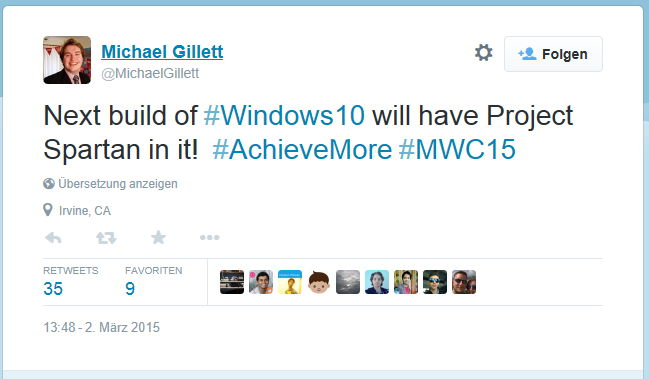 Die nächste Windows 10 Preview kommt mit Spartan