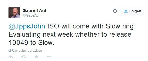 Windows 10 Build 10049 ISO nächste Woche
