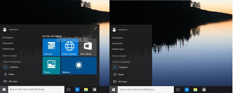 Windows 10 10056 einmal angeschaut