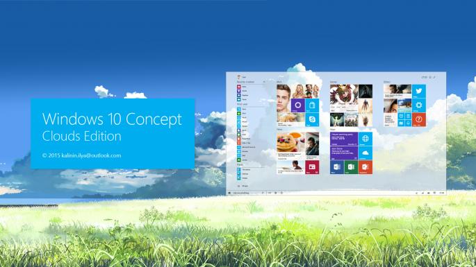 Windows 10 Konzept – So könnte Windows 10 aussehen