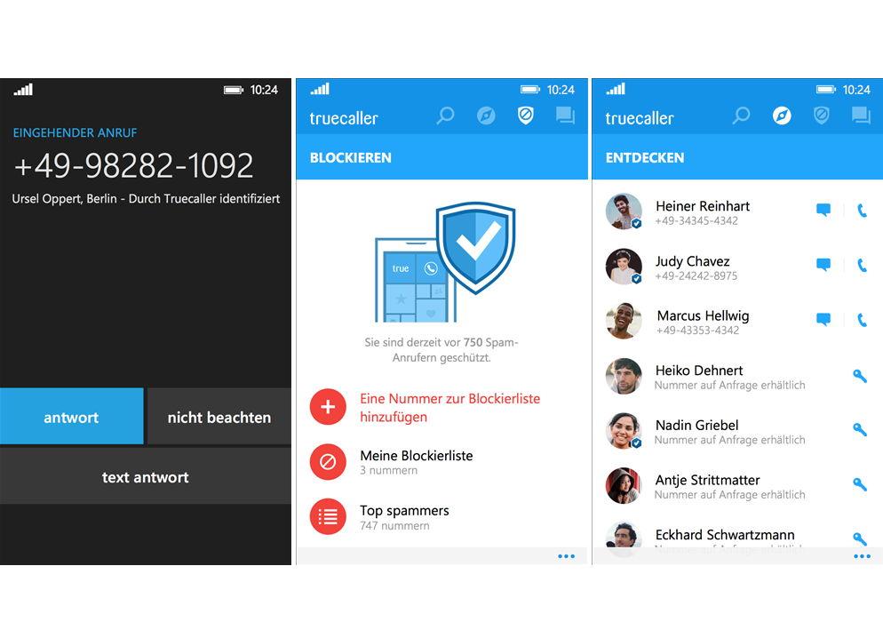 Truecaller App mit einem Redesign – Spam Anrufe,  SMS blockieren und mehr