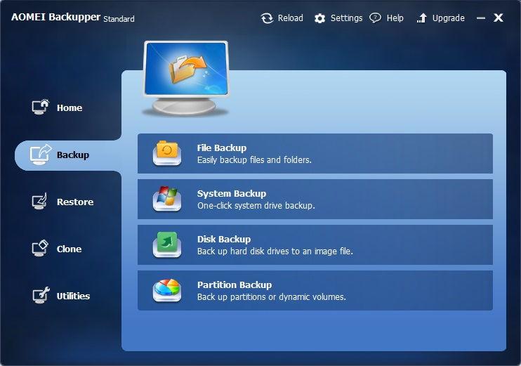 AOMEI Backupper Standard mit einem Update auf Version 2.5