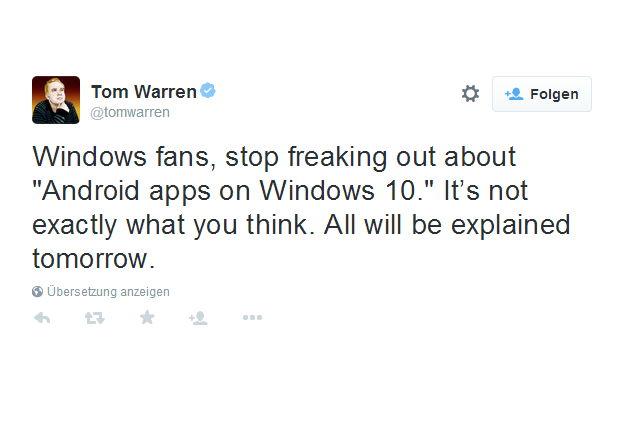 Android Apps unter Windows 10? Nicht wirklich