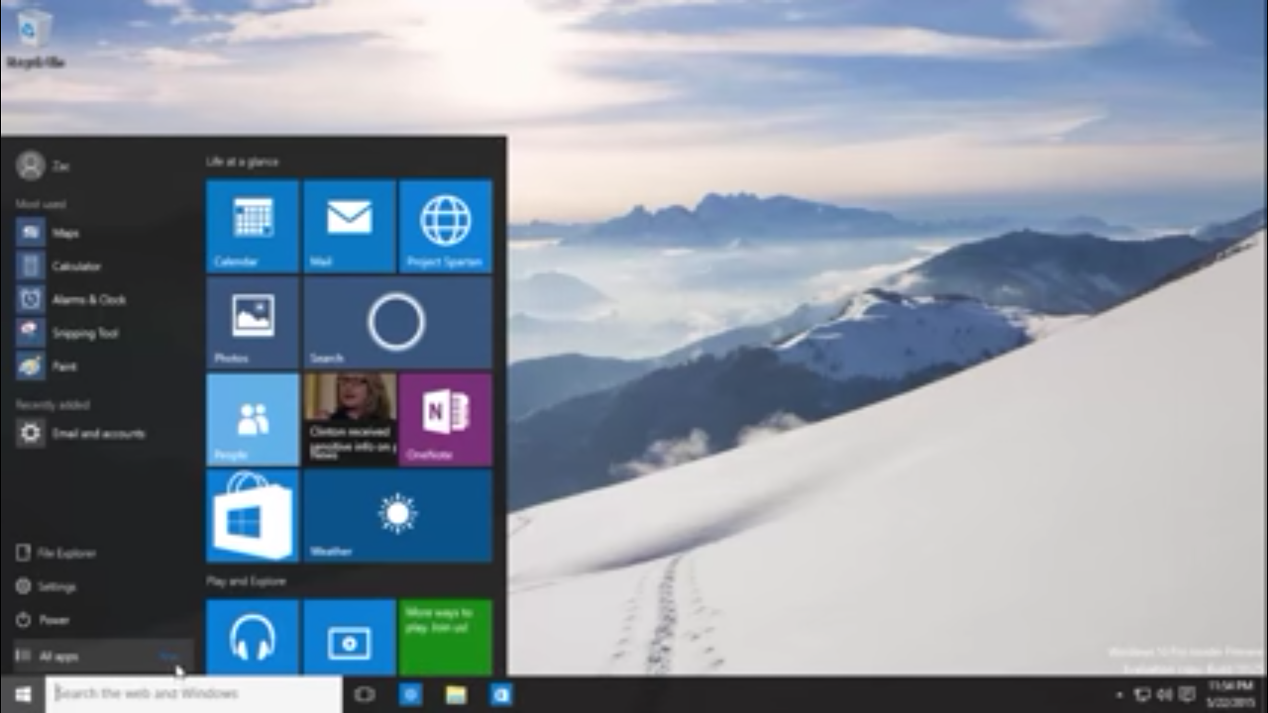 Windows 10 Preview-Build 10125 – Video zeigt weitere Designanpassungen
