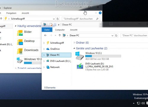 Windows 10 10122 – Wie geht es mit AeroGlass weiter