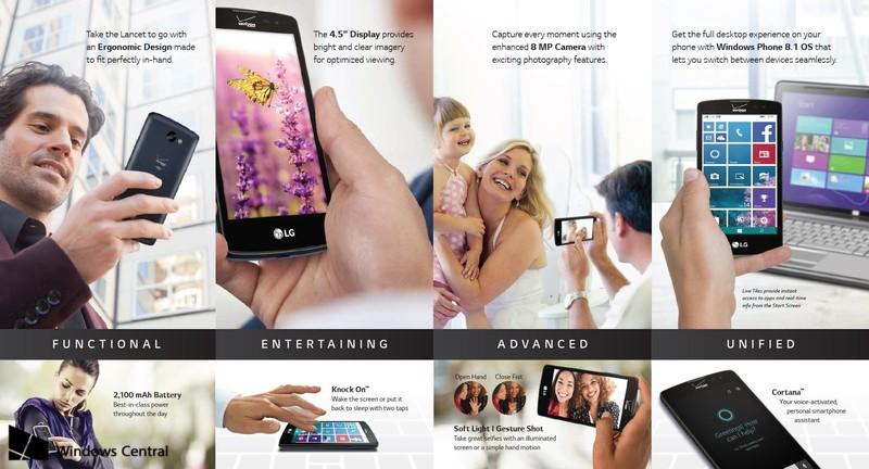 LG Lancet – Daten und Bilder zum kommenden Windows Phone von LG im Netz aufgetaucht