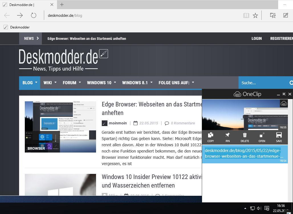 OneClip von Microsoft Links, Bilder, Texte teilen mit jedem auf allen Geräten [Update]