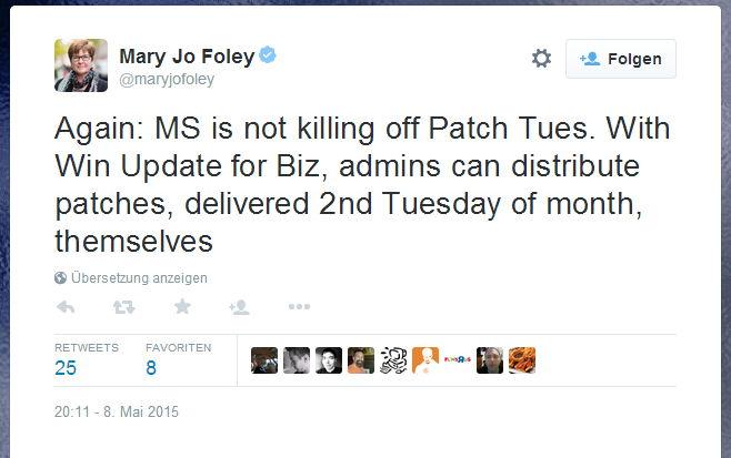 Der Patchday bleibt uns auch unter Windows 10 erhalten