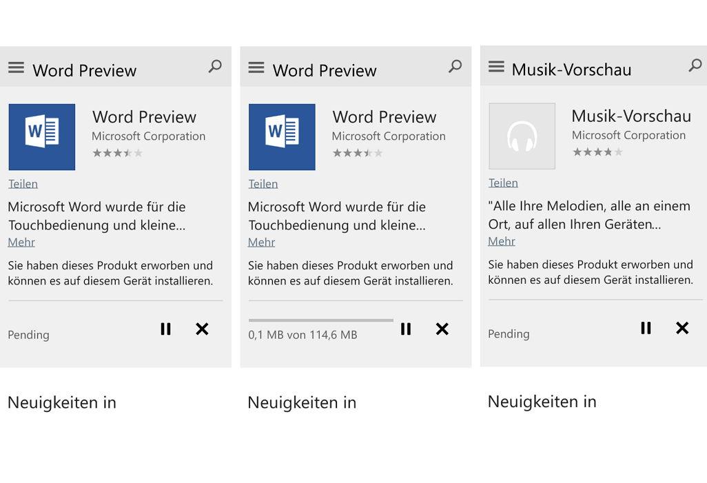 Windows 10 Mobile Build 10080: Apps lassen sich nun ohne Umstellungen aus dem Beta-Store laden