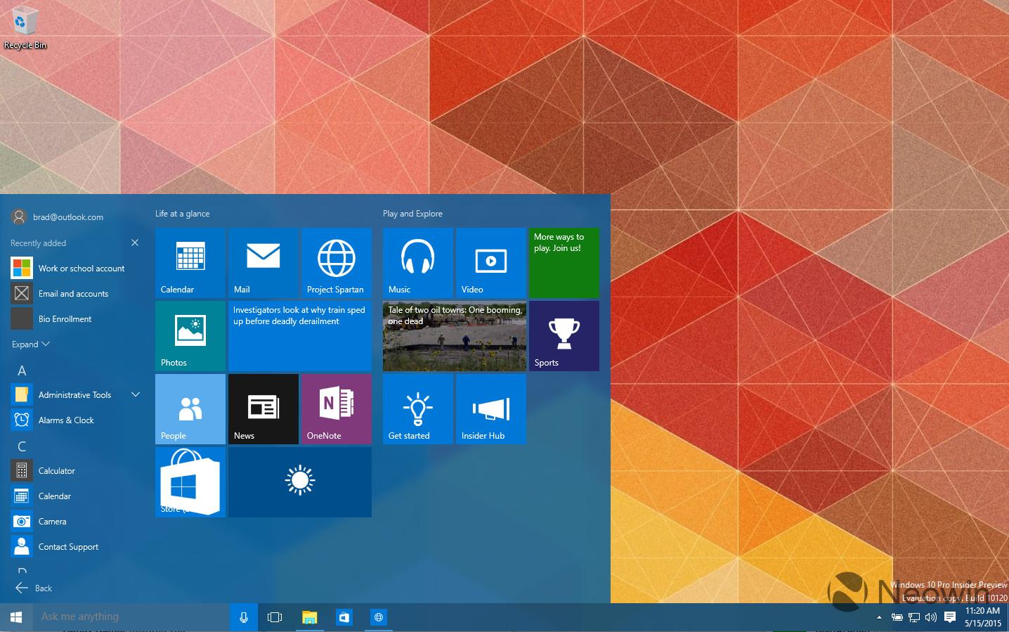 Windows 10 Build 10120 – Weitere Screenshots & ein Video