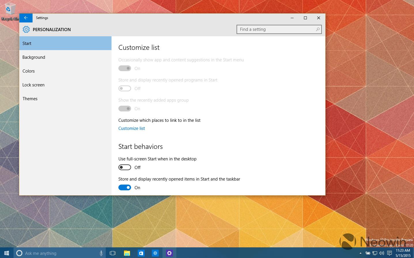 Windows  Letztes Build