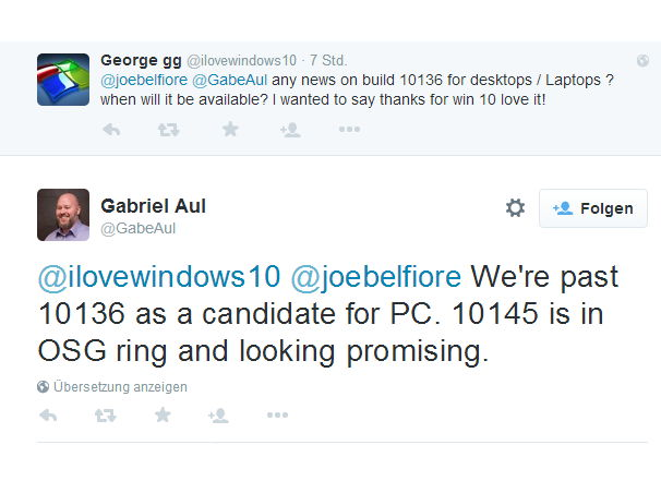 Windows 10 Build 10145 im internen Ring gelandet