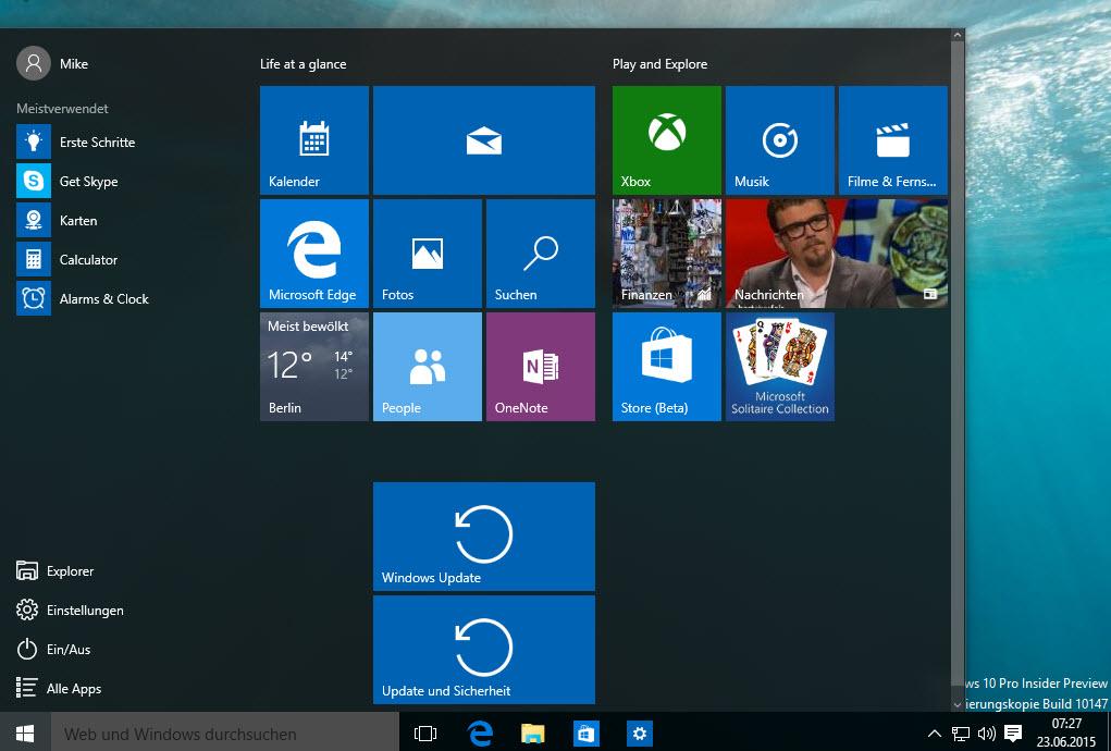 Windows 10 Build 10147 – Microsoft ändert das Anpinnen der Einstellungen aus dem Einstellungs-App an das Startmenü
