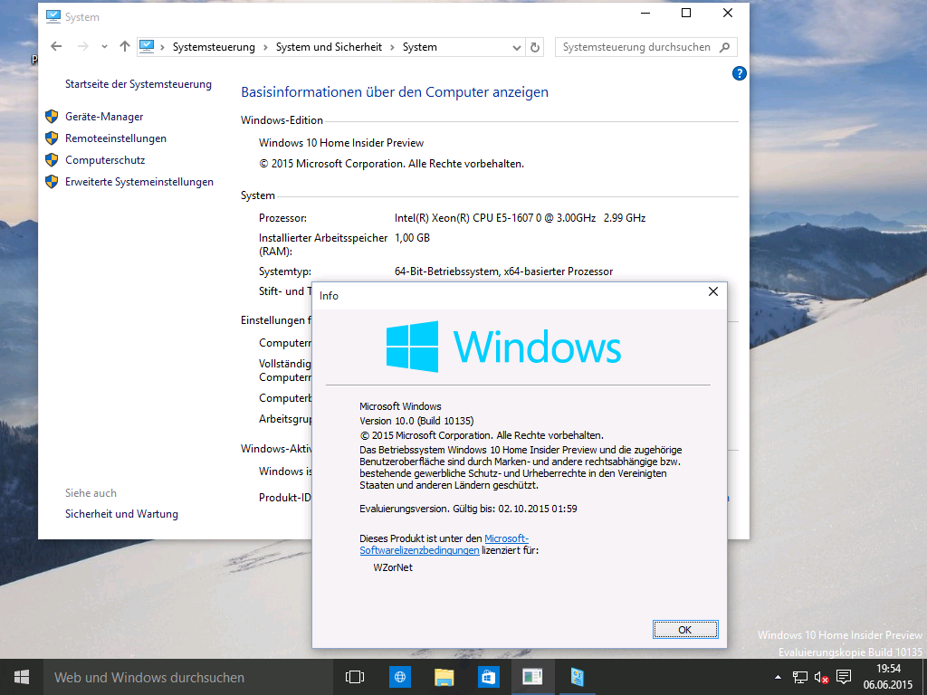Windows 10 Insider Preview 10135 ins Netz gelangt [Update: Deutsch & Pro-Version]