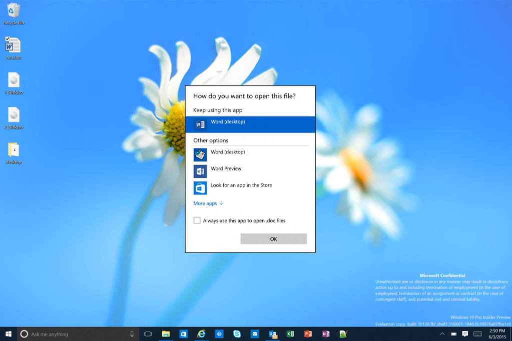 Screenshots der Windows 10 Preview-Build 10136 zeigen aktualisierte Icons