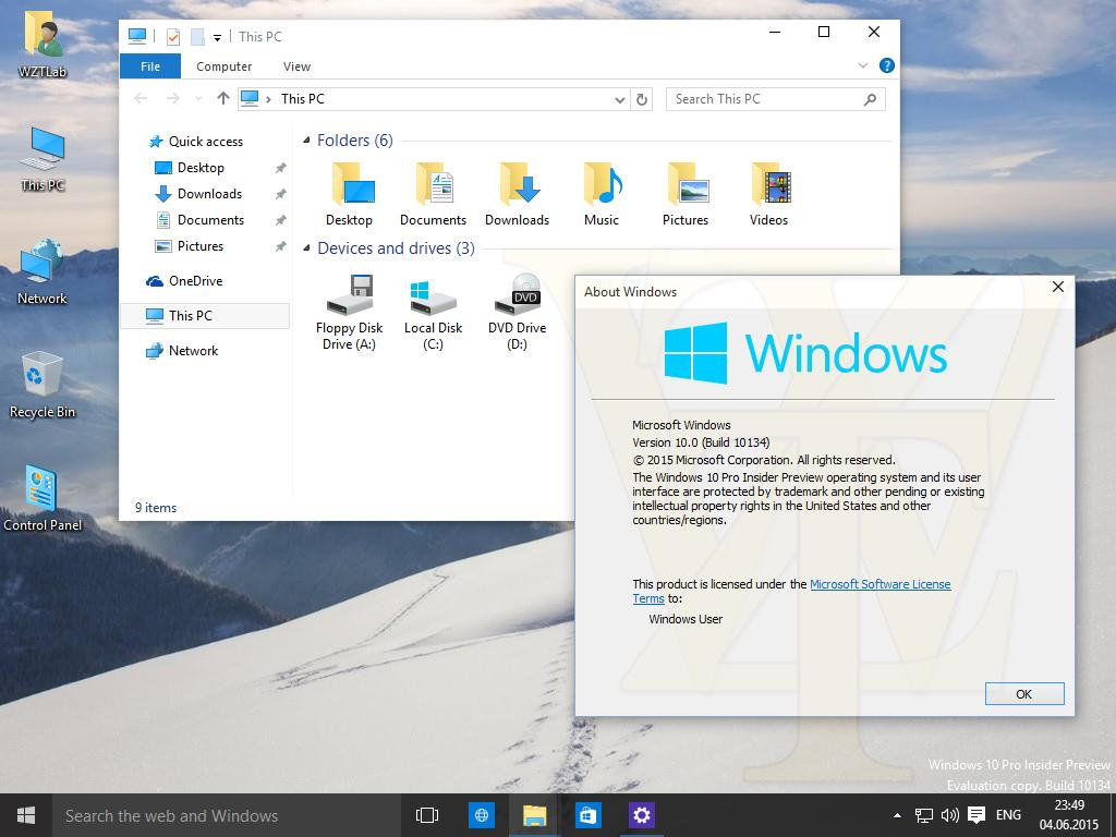 Windows 10 Insider Preview 10134 – Screenshots geleakt