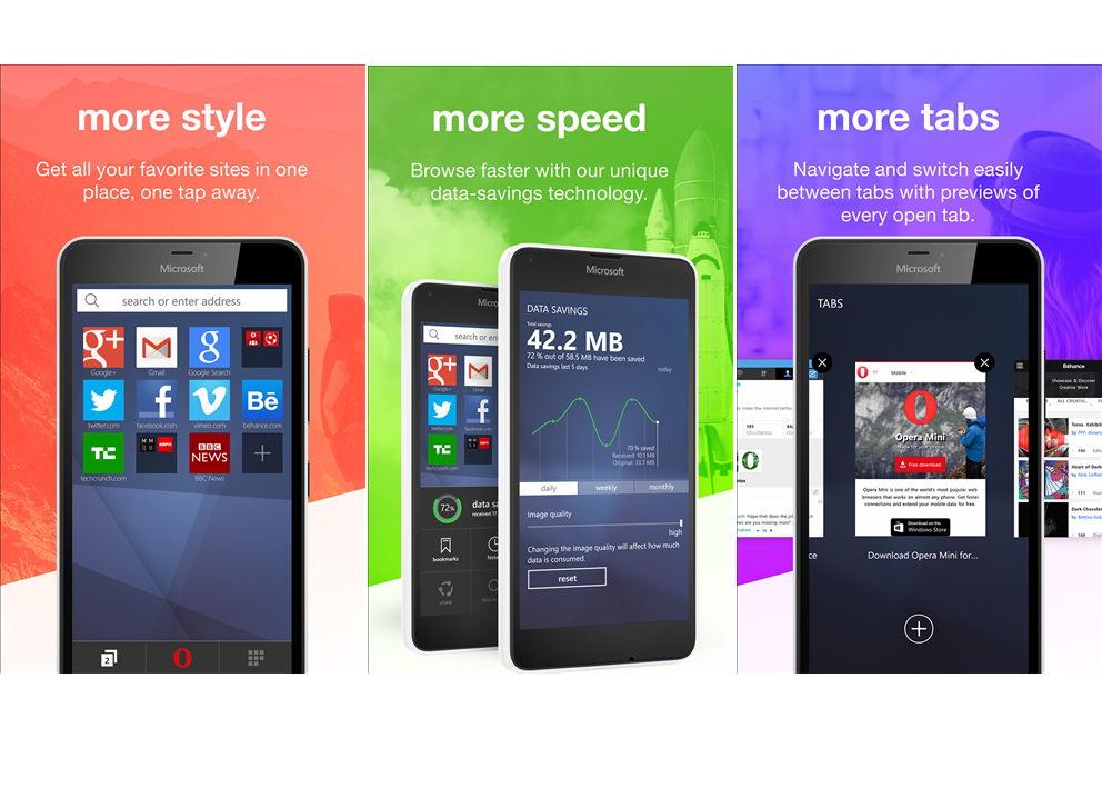 Opera Mini Stable als App für das Windows Phone erschienen