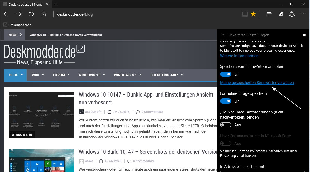 Windows 10 Build 10158 – Das sind die Neuerungen im Edge Browser