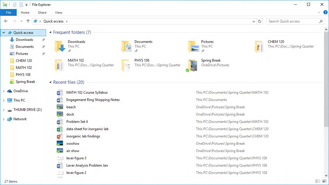 """Microsoft mit Details zum """"Quick Access"""" unter Windows 10"""