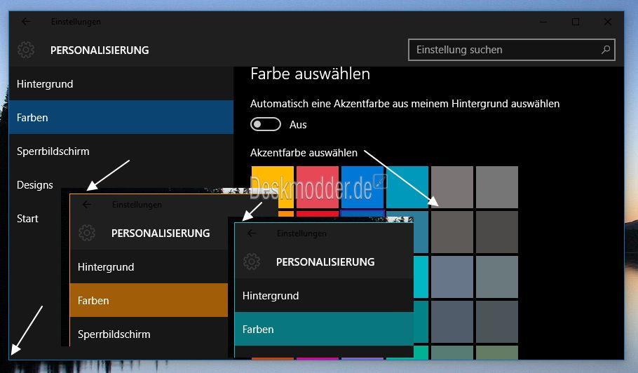 Windows 10 Build 10147: 1-Pixel-Rahmen wird nun auch farblich verändert