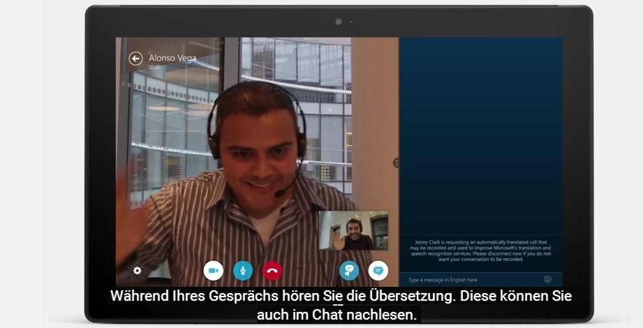 Skype Translator nun auch mit deutscher Echtzeit-Übersetzung
