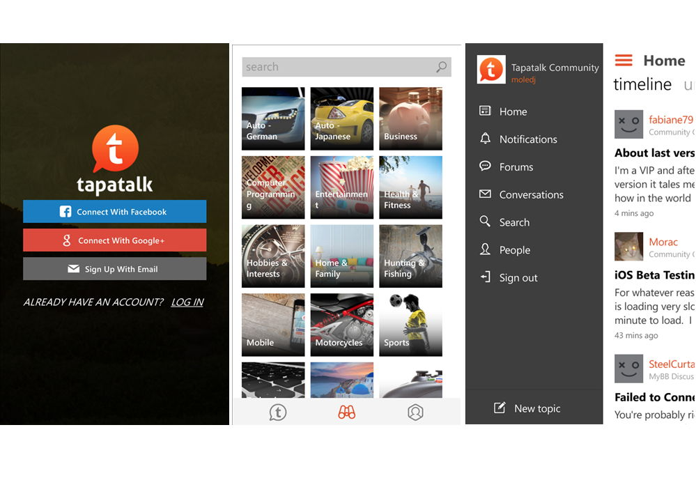 Tapatalk als neue Universal App im Windows Phone Store
