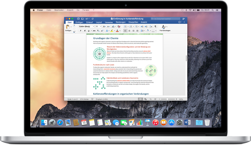 Office 2016 für Mac OS X verfügbar
