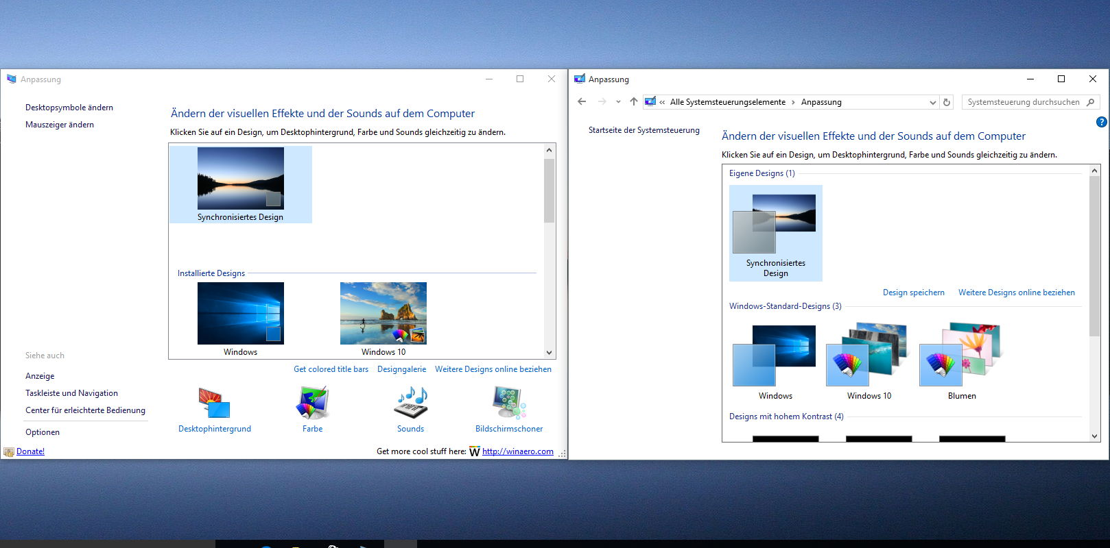 Personalization panel for windows 10 die anpassung for Window location
