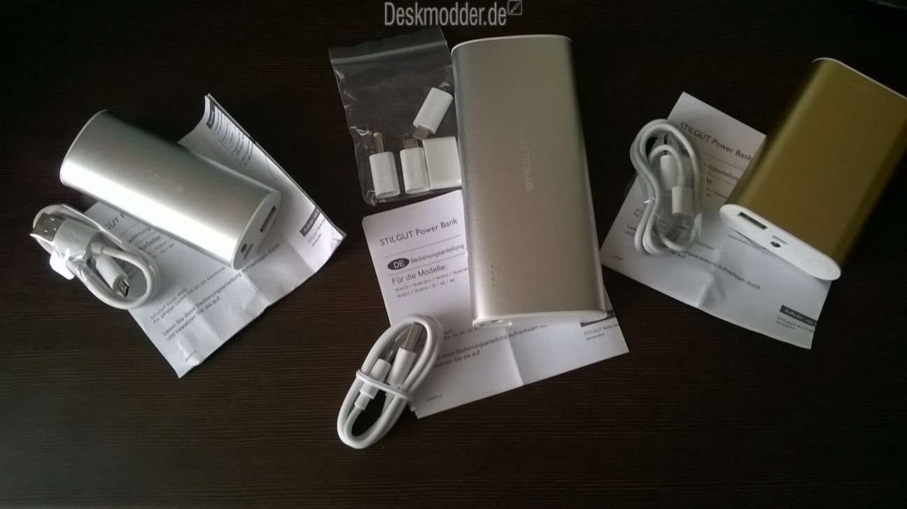 Test: StilGut Power Bank My Color My Style mit 5200 mAh, 7800 mAh und 13000 mAh