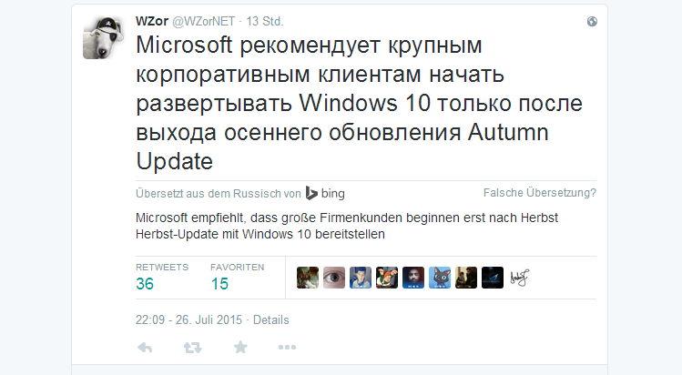 Microsoft scheint doch mehr Probleme mit der Windows 10 RTM zu haben, als sie bisher zugegeben haben