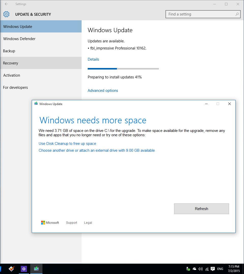 Windows 10 Upgrade und kein Speicherplatz? Microsoft macht es nun einfacher