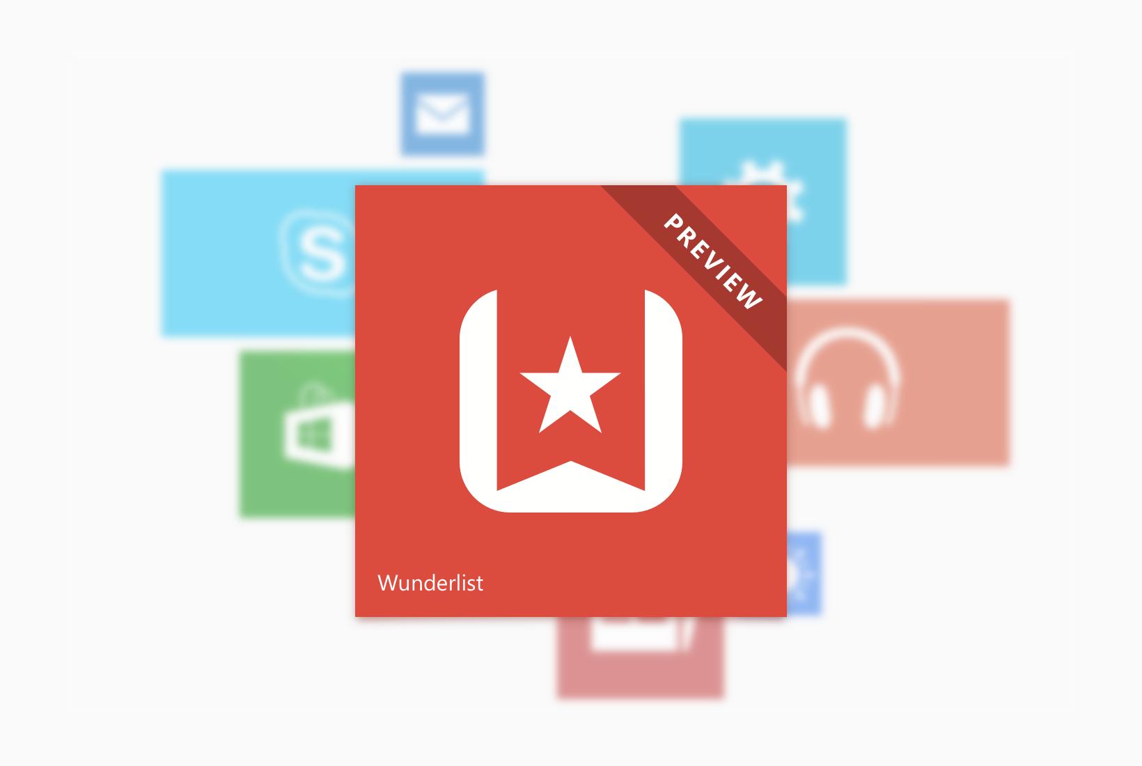 Wunderlist Beta für Windows 10 verfügbar
