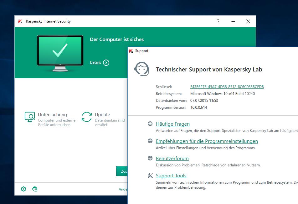 Kaspersky Internet Security 2016 & Kaspersky Antivirus 2016 erschienen