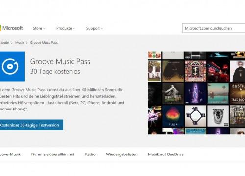 Groove Music Pass kostenlos