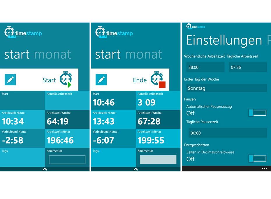 App des Tages: Time Stamp Pro – Arbeitszeiten erfassen und dokumentieren