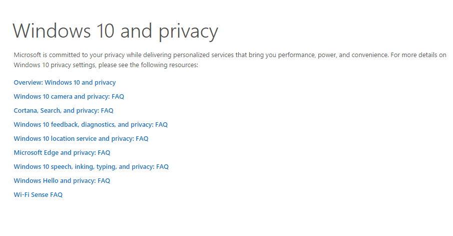 Windows 10 und die Privatsphäre: Microsoft aktualisiert die Fragen- und Antworten-Seite
