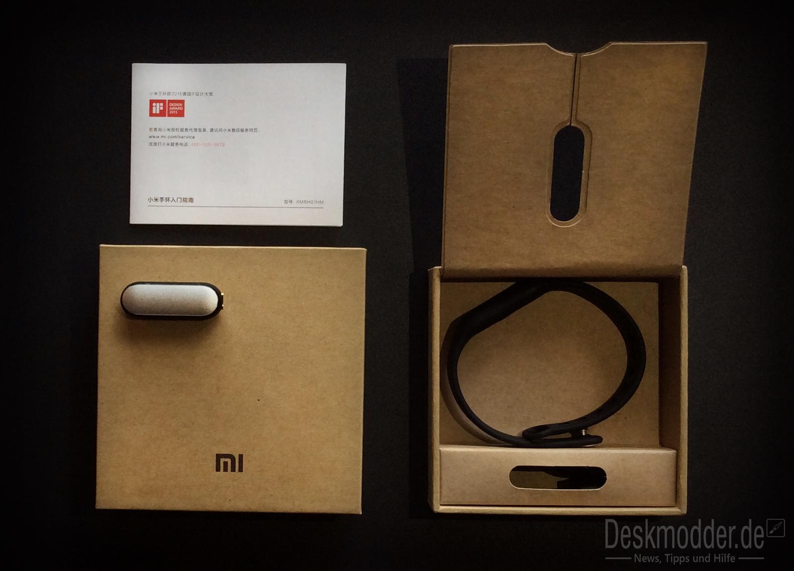 Xiaomi Mi Band: Unboxing und erster Eindruck