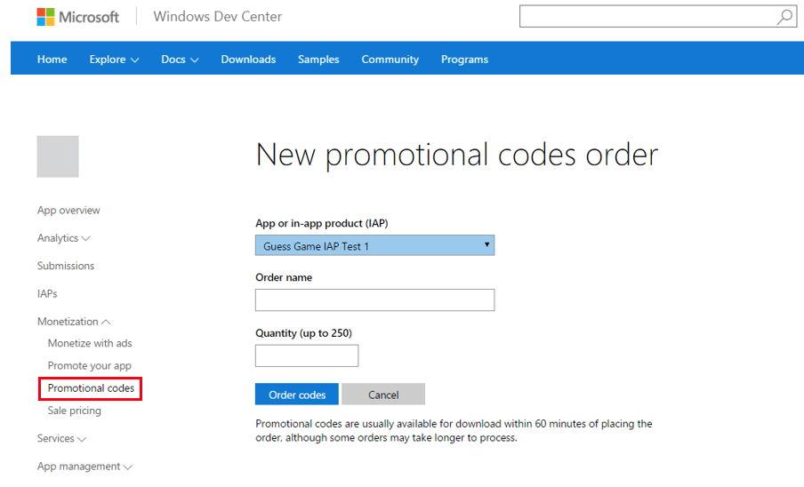 Ab sofort können Windows App Entwickler Promo Codes vergeben