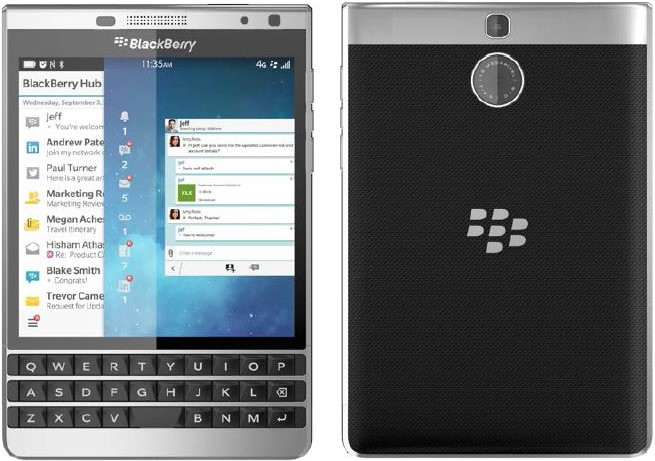 BlackBerry Passport Silver Edition mit Android im Video