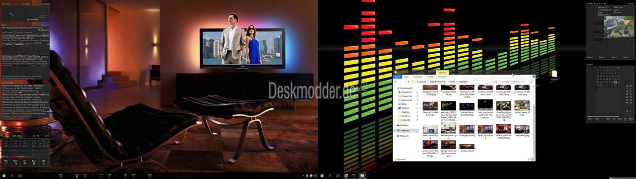 Windows 10 – Verschiedene Wallpaper auf zwei Monitoren