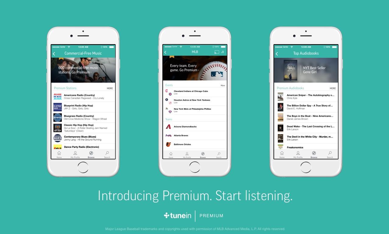 """""""TuneIn Premium"""" vorgestellt – Noch nicht in Deutschland verfügbar"""