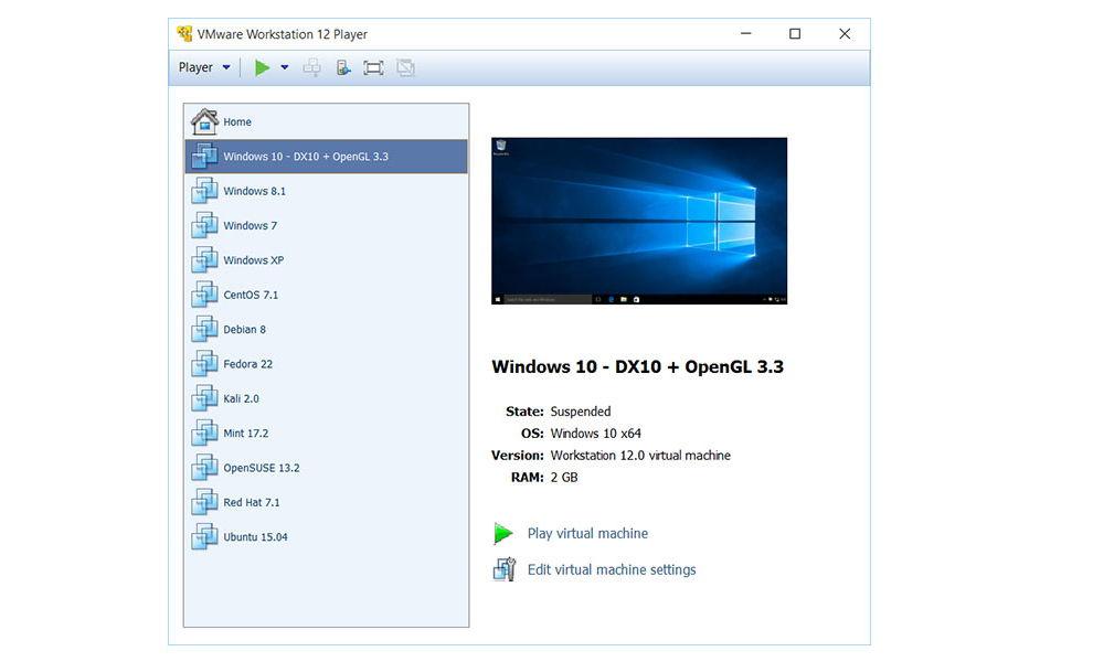 VMware Workstation Player 12 steht zum Download bereit