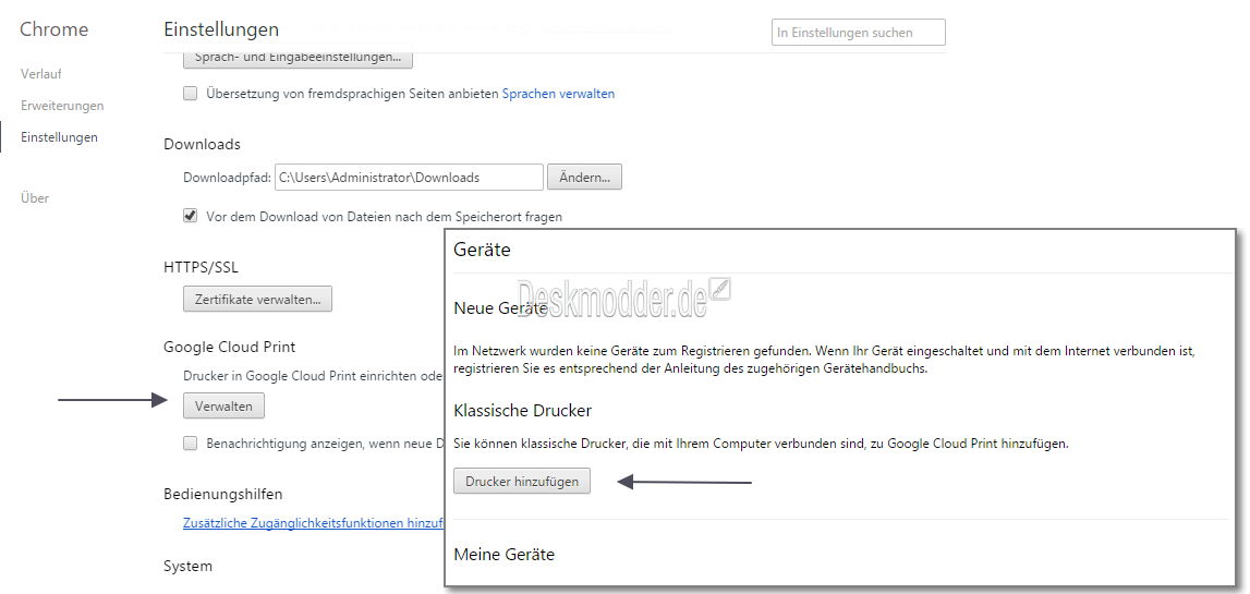 windows-10-alter-drucker-drucken-ohne-treiber