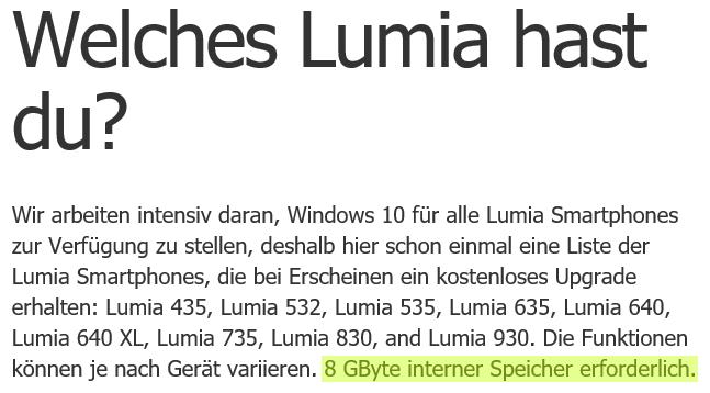 speicher lumia 640