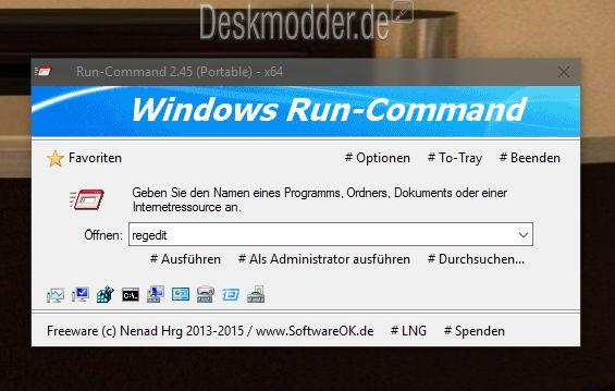 Run-Command 2.45 nun auch offiziell für Windows 10 erschienen