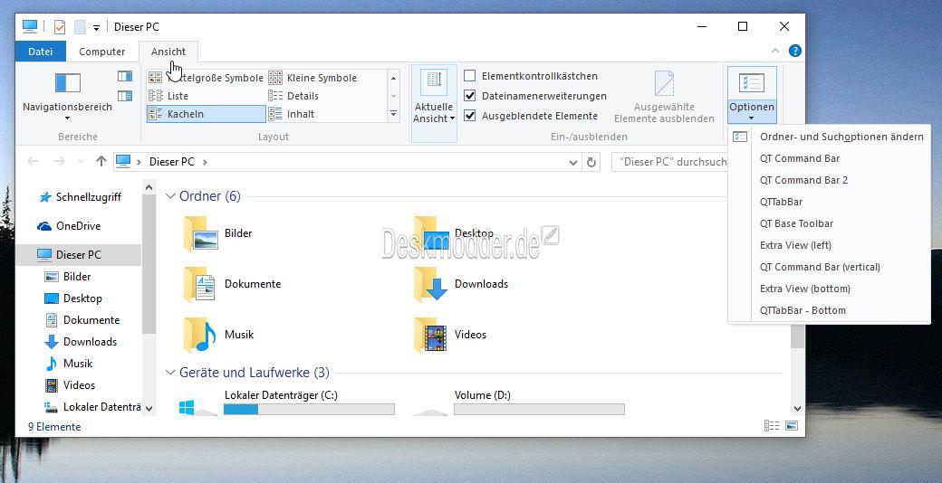 Test: QTTabBar unter Windows 10 installiert und ausprobiert