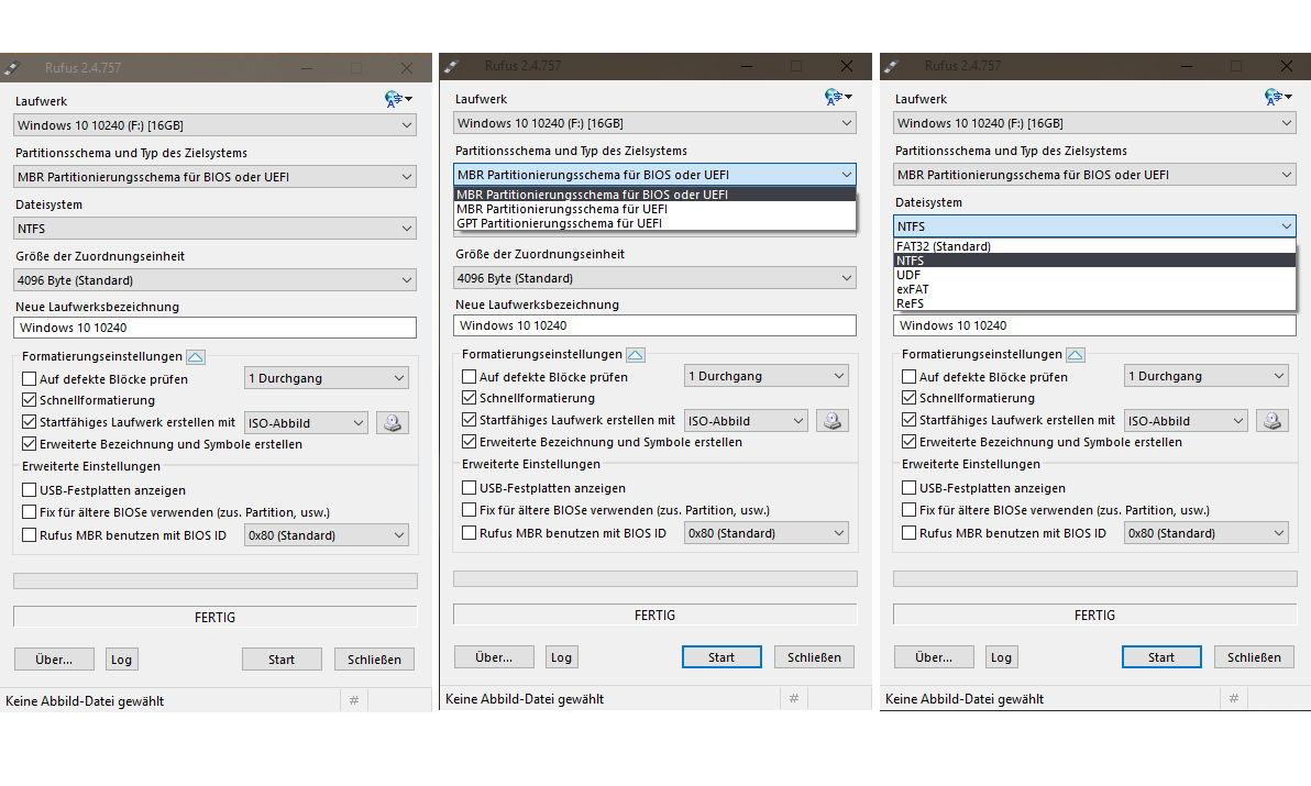 Rufus 2.4 erschienen – ISO Datei auf USB-Stick bootfähig erstellen