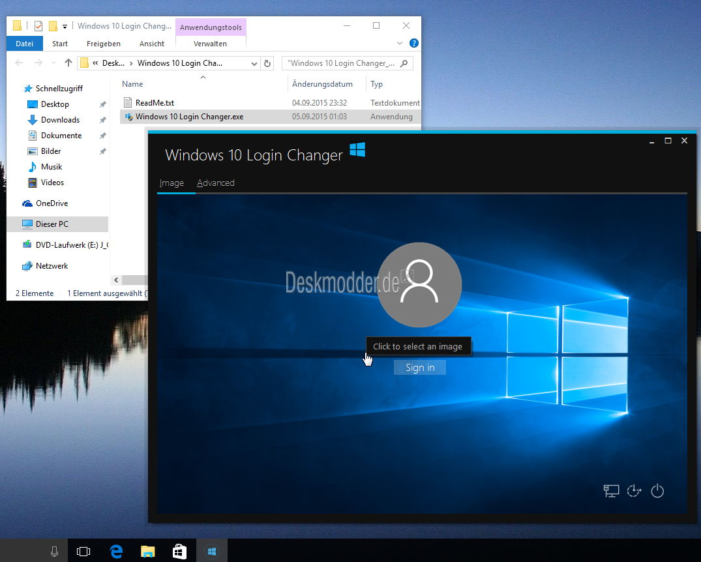 Windows 10 Login Changer in der Version 0.6 erschienen