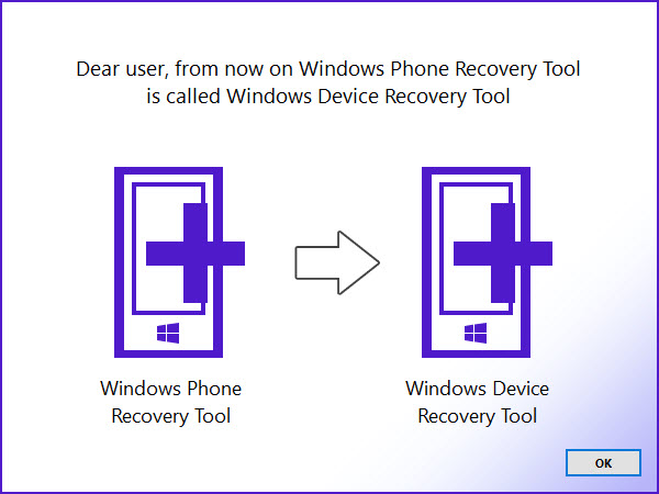 Windows Device Recovery Tool – Erneute Namensänderung vom Recovery Tool aus dem Hause Microsoft
