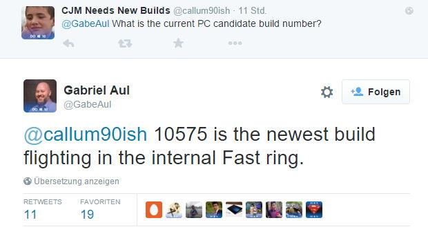 Windows 10 Build 10575 im internen Ring und nervende Popups